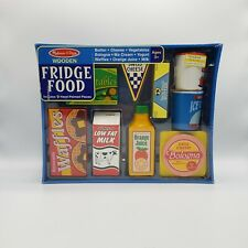 Melissa & Doug Fridge Food Wooden Play Food Set - Includes 9 Pieces - Brand New
