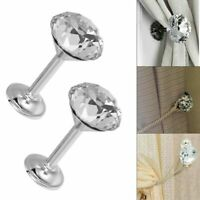 2X Crystal Glass Curtain Wall Tie Hooks Back Drape Holdback Metal Home Hangers