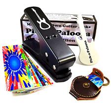 DIY Guitar Pick Punch w/ Leather Key Chain Pick Holder 15 Pick Strip Guitar File