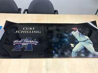 Arizona Diamondbacks Curt Shilling 2001 World Champions Poster Black Shiny
