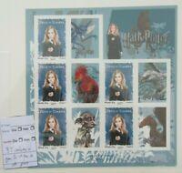 variete 2007 Feuillet 116 HARRY POTTER - HERMIONE 3 timbres 1 bande de phosphore