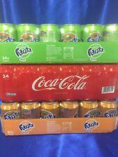 Coca Cola, Fanta Orange, Fanta Exotic je 24 x 0,33l ( 72 Dosen Total ) € 46,50