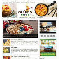 * GLUTEN FREE LIVING TIPS * turnkey website business for sale w/ AUTO CONTENT!