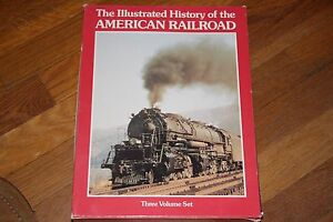 BOOK  HISTORY OF THE AMERICAN RAILROAD, 3 VOLUME SET,   HARD COVER,   GD/CD