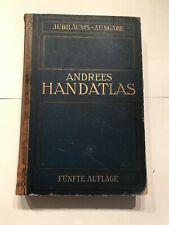 Richard Andree Allgemeiner Handatlas, 5.Aufl. 1906, 300 Karten, Welt - Atlas