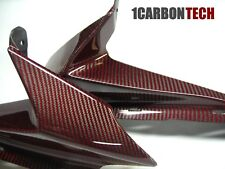 08-2010 SUZUKI GSXR 600 750 CARBON FIBER RAM AIR INTAKE COVERS RED HYBRID