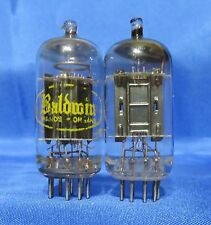 Vintage Raytheon 12AU7 PLATINUM PLUS GRADE Black Plate Preamp Tubes Matched Pair