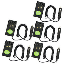 5x Car charger Battery Eliminator Adaptor For Wouxun KG-UVD1P KG-UV6D Radios Hot