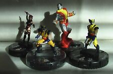 HeroClix Extras Lot: Mutants (Marvel) - Wolverine, Psylocke, Colossus, Marrow