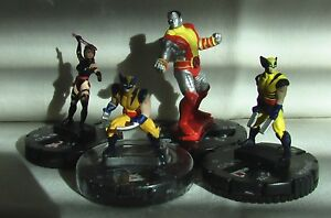 HeroClix Extras Lot: Mutants (Marvel) - Wolverine, Psylocke, Colossus, Marrow