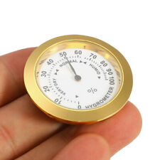 37mm Brass Analog Smoking Tobacco Hygrometer Round Humidifier For Cigar Humidor