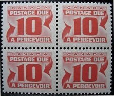 Canada - Stamp - 1967 - J35a - 10-cents - Postage Due - MNH Block ( F-VF )