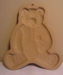 Vintage 1984 Marron Sac Cookie Art Hill Design Moule Tampon Press Nounours Ours