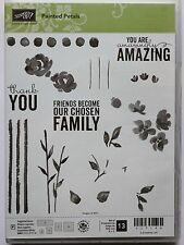 Stampin Up PAINTED PETALS Photopolymer stamps NEW Flower Silhouette watercolor