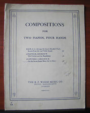 On the Ice at Sweet Briar by Crawford -1935 sheet music - Two Piano, Four Hands