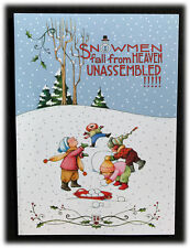 Mary Engelbreit Snowmen Fall From Heaven Heaven On Earth Holidays Christmas Card