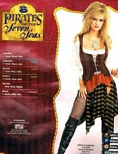 PIRATE WENCH BUCCANEER BABE SEXY SWASHBUCKLER HALLOWEEN RUBIE'S COSTUME ADULT