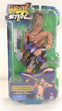 MAX STEEL 12in Crossbow Commando Figure Doll (2001, Mattel) HTF