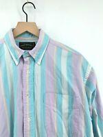 Vintage Polo Country Ralph Lauren - Mens Large Lavender Blue Striped Button Down