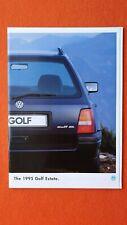Volkswagen Golf Estate L CL GL car brochure catalogue January 1995 MINT VW B