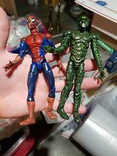 2001 Marvel Legends Super Posable Spiderman & 2002 Green Goblin
