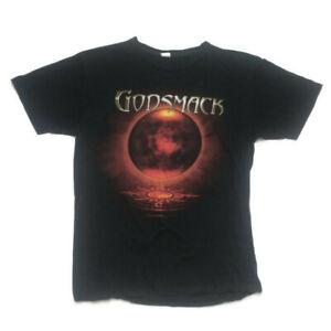 Godsmack 2010 Oracle Concert Tour Tshirt The Core Large Cotton Crew Neck Black