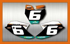 KTM SX 50 Conjunto De Fondo De Carrera Adhesivo Calcomanía Conjunto de 2016 - 2020 piloto nombre carrera #