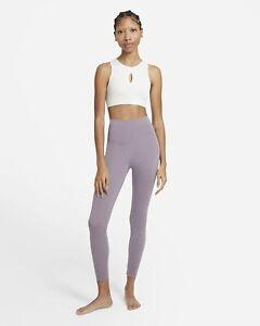 $60 NWT Nike Yoga Women's High-Waisted 7/8 Leggings CU5293-531 Sz. XS (0-2)