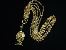 US SELLER!!! Authentic CHANEL VINTAGE CHARMS CHAIN LONG NECKLACE WOW!!! BELT