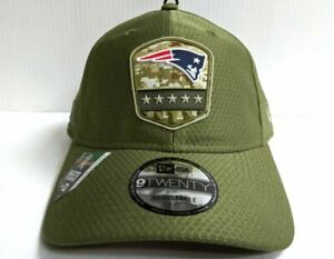New Era New England Patriots '19 Salute to Service Sideline 9TWENTY adjstbl hat