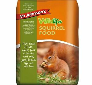 Mr Johnsons Squirrel Food Feed Wild Life 900g Bags Nuts, Seeds, Fruit,Berries vf