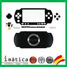 CARCASA COMPLETA PSP 1000 1004 NEGRO NEGRA FULL HOUSING COVER NUEVO FAT GORDA