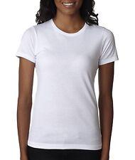 Next Level The CVC Crew Blank T-shirt Women's Junior Fit 6610 S White