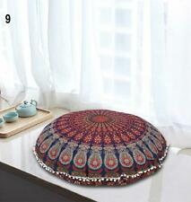 Beautiful Decor Mandala Tapestry Round Pouf  Pillow Case Ottomans  Size 32""