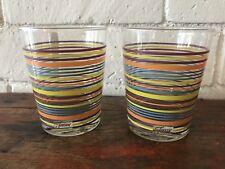 "Fiestaware Glassware 4.5"" Tumbler Heather Lemongrass Peacock Tangerine Set/2"