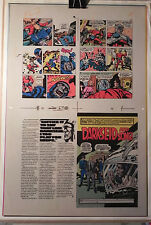 NEW GODS BOOK 6 FLAT 1 JACK KIRBY ORIGINAL 3M COLOR ART SIGNED A. TOLLIN w/COA