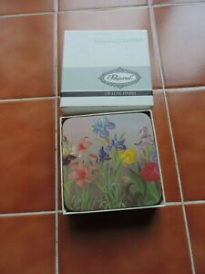 New & Boxed Pimpernel Contemporary Collection Spring Flowers Coasters 10.5cm