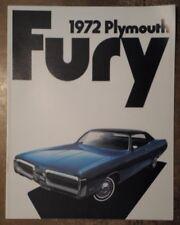 PLYMOUTH FURY orig 1972 USA Mkt Sales Brochure - Gran Sedan Coupe I II III