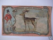 """CHROMOS ANNÉE 1890-1900 CHOCOLAT GUÉRIN-BOUTRON LES MAMMIFÈRES """" LE DAIM """""""