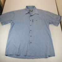 Vintage Quicksilver Short Sleeved Blue Shirt Button Down Pocket Size L