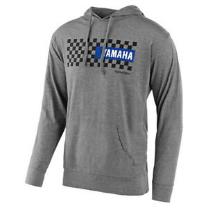 Troy Lee Designs Yamaha Checkers Pullover Hoodie Gunmetal Heather size 2X-Large
