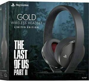 Sony Playstation Gold Wireless Headset The Last of Us Part II 2 Limited Edition
