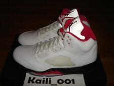 Nike Air Jordan 5 Retro Size 12 B grade WHITE FIRE RED 136027-100 OG