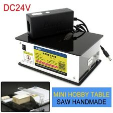 Mini Precision Table Saw Blade Woodworking Bench Cutter 8000RPM Machines DC24V