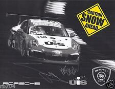 2014 IMSA TUDOR VIR SNOW Racing Porsche Hero Card SIGNED