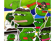 16 Pepe the Frog Feels Good Bad Skateboard Laptop Political Meme Stickers #Bn
