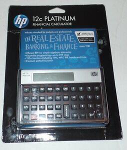 Hewlett Packard HP 12C Financial Calculator Sealed & Brand New ;120+functions ..