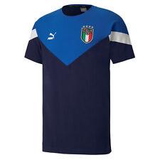 ITALIA FIGC T-SHIRT ICONIC BLU 2020-21 PUMA ITALIA NAVY T-SHIRT