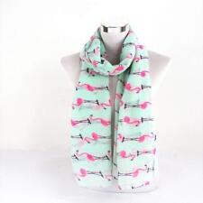 Flamingo Print Long Scarf for Women Long Wrap Shawl Scarves Fashion LG