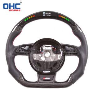 Carbon Fiber LED Performance Steering Wheel for Audi S1、S3、S4、S5、S6,TTS、 TT R8